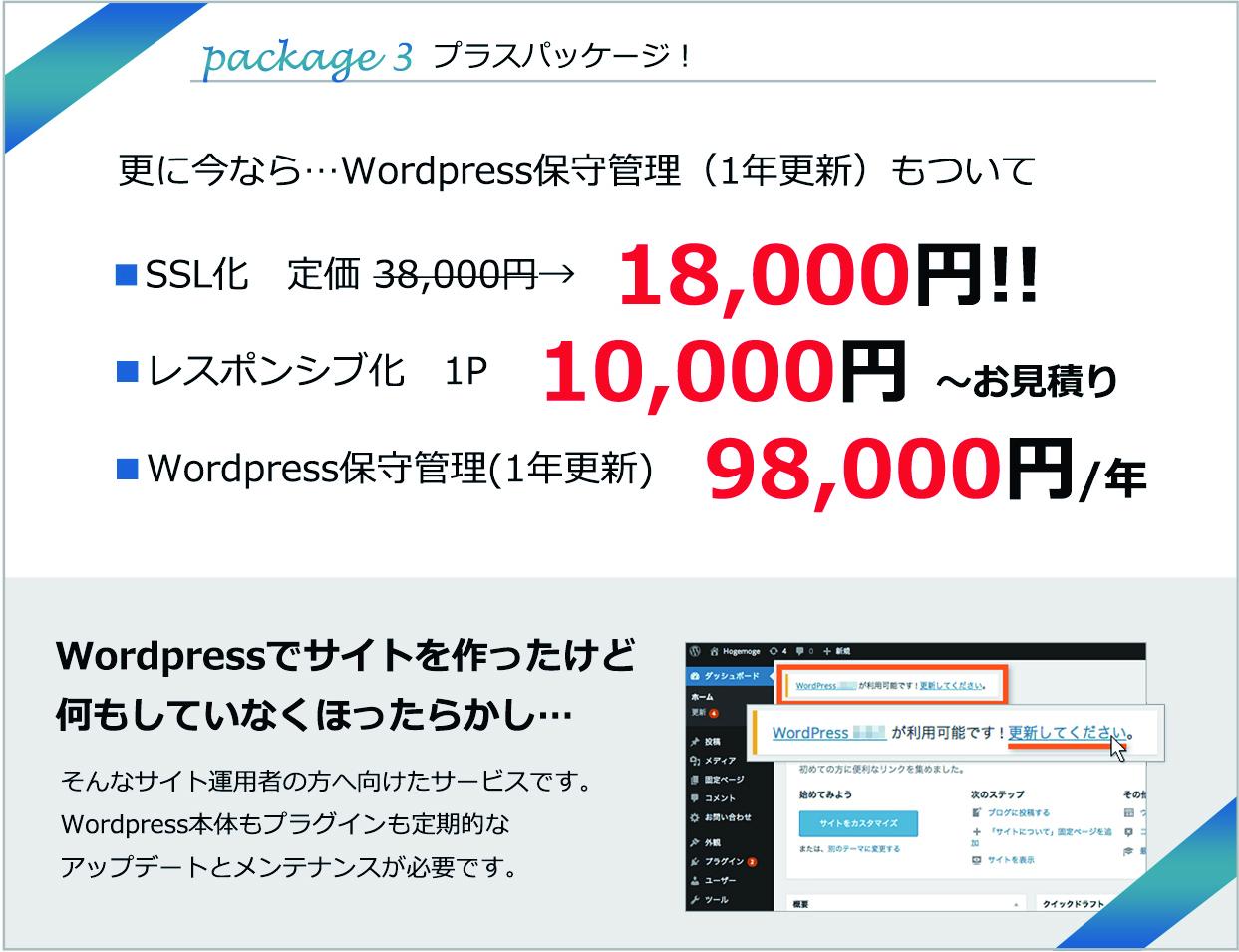 Wordpress保守管理(1年更新)